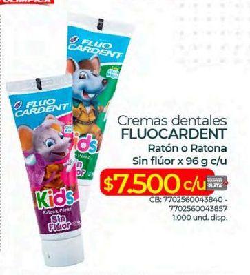 Oferta de Crema dental Fluo Cardent por $7500