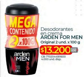 Oferta de Desodorante Arden For Men por $13200