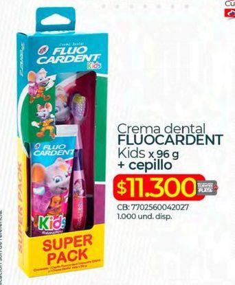 Oferta de Crema dental Fluo Cardent por $11300