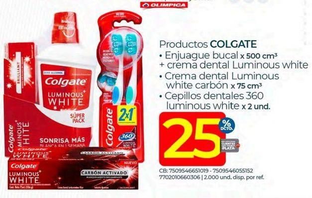 Oferta de Higiene bucal Colgate por