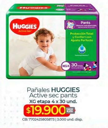 Oferta de Pañales Huggies por $19900
