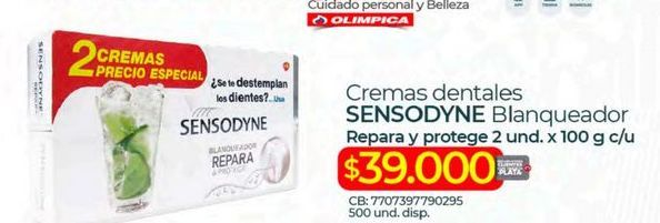 Oferta de Crema dental Sensodyne por $39000