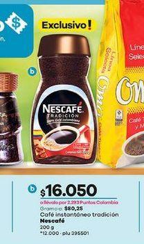 Oferta de Café instantaneo tradicion Nescafé 200g  por $16050