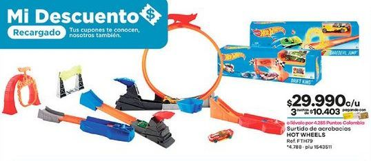 Oferta de Juguetes Hot Wheels por $29990