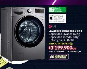 Oferta de Lavadora secadora LG 2 en 1 por $3199900
