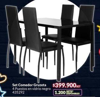 Oferta de Set comedor Gruzeta por $399900