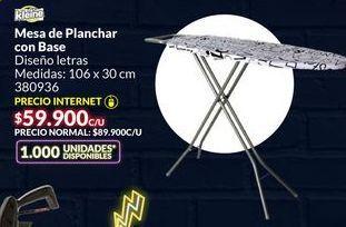Oferta de Mesa de planchar con base por $59900