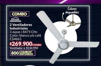Oferta de 2 ventiladores industriales por $269900