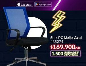 Oferta de Silla PC Malla Azul por $169900