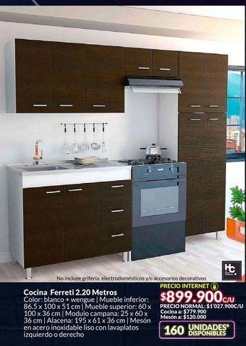 Oferta de Cocina Ferreti 2.20 Metros por $899900