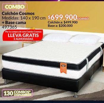 Oferta de Colchón Cosmos + base de cama por $699900