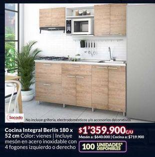 Oferta de Cocina Integral Berlin  por $1359900
