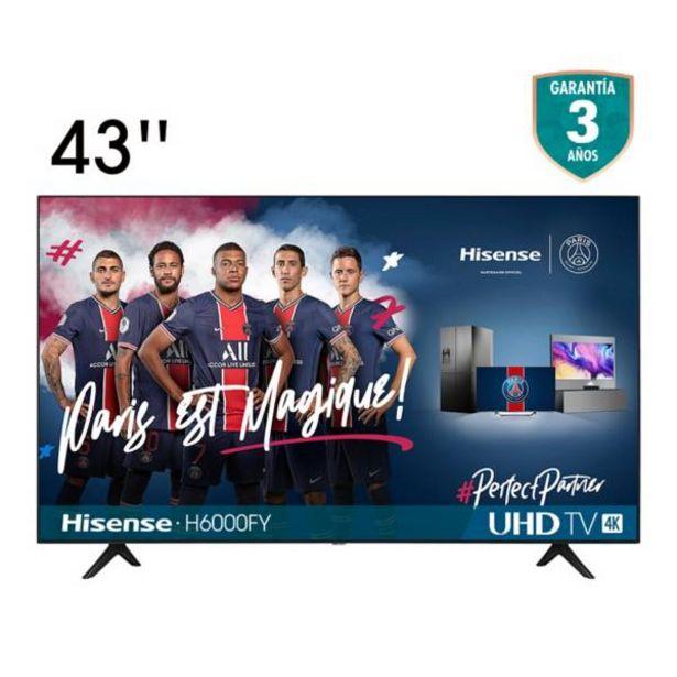 Oferta de Televisor Hisense 43 pulgadas LED 4K Ultra HD Smart TV por $999900