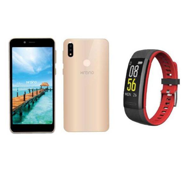 Oferta de Combo celular Krono net titan dord+ smartband mtb009 roj por $290900