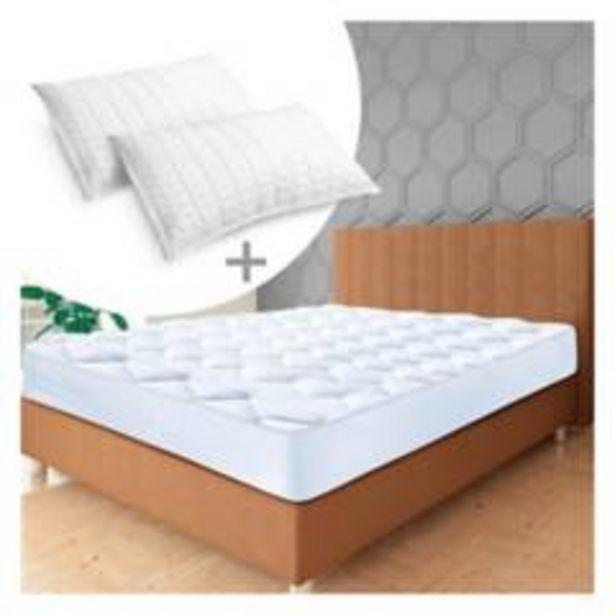 Oferta de Combo: Protector colchón Topper Semidoble +2 Almoh por $249900