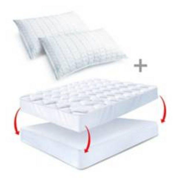 Oferta de Combo: Protector colchón Topper sencillo + 2 Almoh por $229900