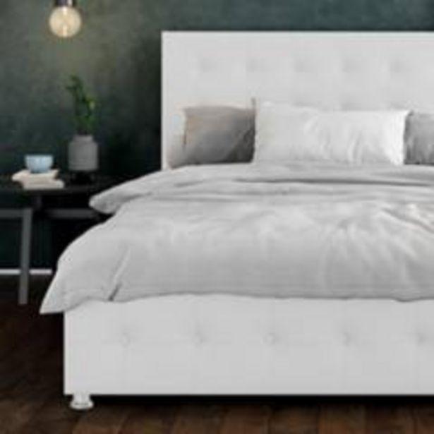 Oferta de Combo capital espaldar + base cama 140 blanco por $1299900