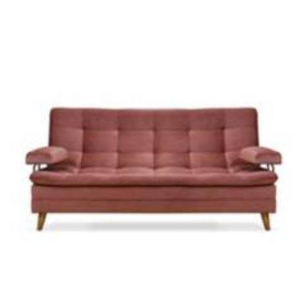 Oferta de Sofá cama cooperc/b en poliéster 100% palo de rosa por $749900