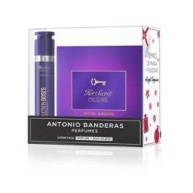 Oferta de Set de Perfumería Antonio Banderas Estuche Her Secret Desire Mujer EDT 80 ml + Dose Her Secret Desire Mujer EDT 30 ml Mujer por $99990
