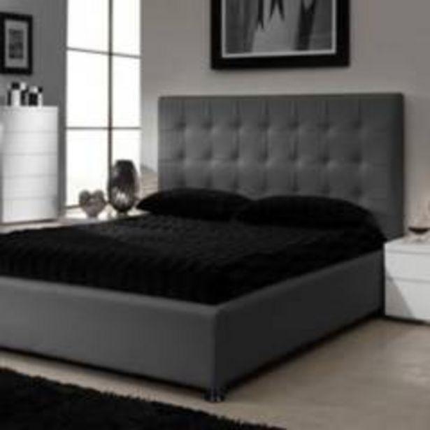 Oferta de Combo ilusión espaldar + base cama 160 gris plomo por $1399900