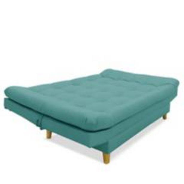 Oferta de Sofá cama moltochic en anti rasguño 100% turquesa por $919900