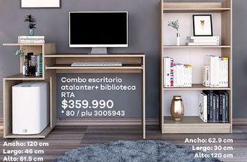 Oferta de Combo escritorio + biblioteca RTA por $359990