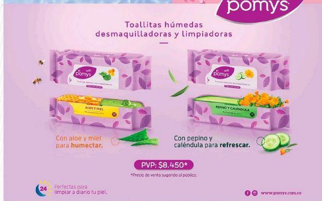 Oferta de Toallitas desmaquilladoras Pomys por $8450