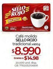 Oferta de Café molido Sello Rojo por $8990