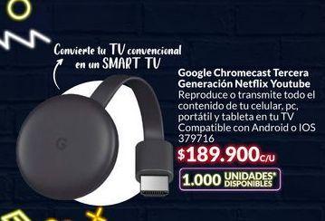 Oferta de ChromeCast por $189900