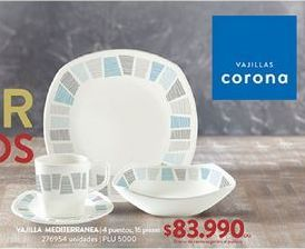 Oferta de Vajilla Corona por $83990