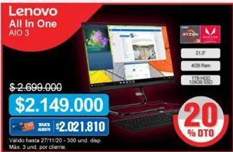 Oferta de Computador de mesa Lenovo por $2149000