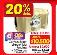 Oferta de Cerveza Andina 355ml c/u por $10500