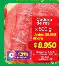 Oferta de Carne de res 500g por $8950
