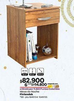 Oferta de Mesita de noche Finlandek por $82900