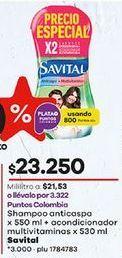Oferta de Shampoo anticaspa Savital por $23250