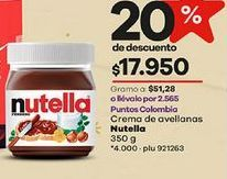 Oferta de Crema de avellanas Nutella por $17950