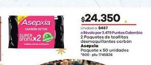 Oferta de Toallitas desmaquilladoras Asepxia por $24350