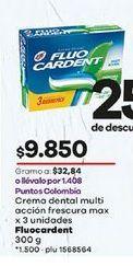 Oferta de Crema dental Fluo Cardent por $9850