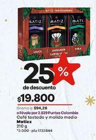 Oferta de Café molido Matiz por $19800