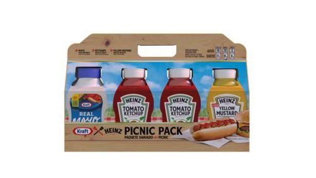 Oferta de Heinz/Kraft, paquete para picnic, 4 unidades. por $41900