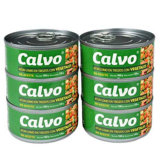 Oferta de Calvo Atún Trozos con Vegetales  6 unidades/160 g por $33500