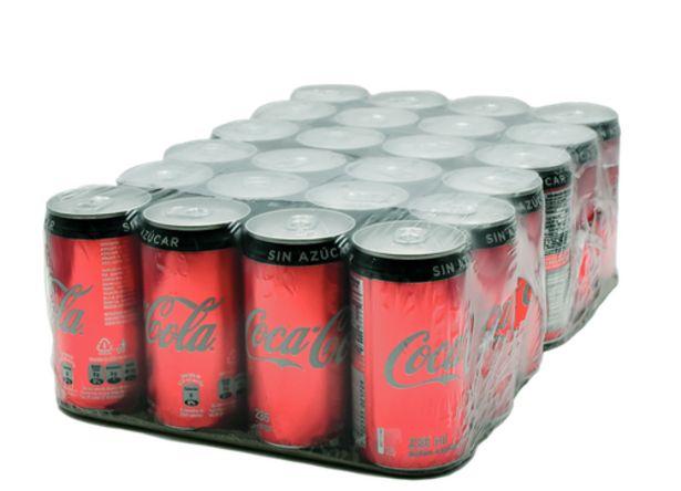 Oferta de Coca Cola sin Azúcar Lata 24 unidades / 235 ml por $27500