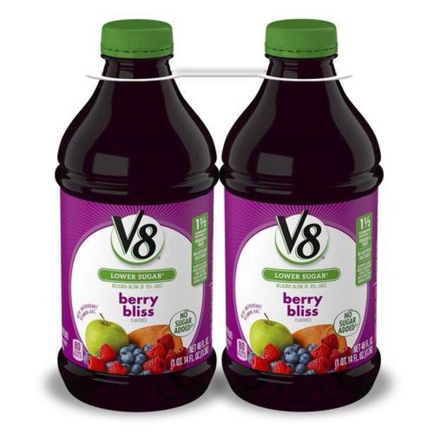 Oferta de Jugo V8 Berry Bliss Blend, 2 unidades/46 oz por $39500