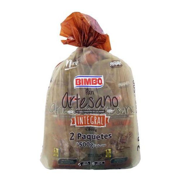 Oferta de Bimbo Pan Artesano Integral 2 Paquetes de 500 g por $9500