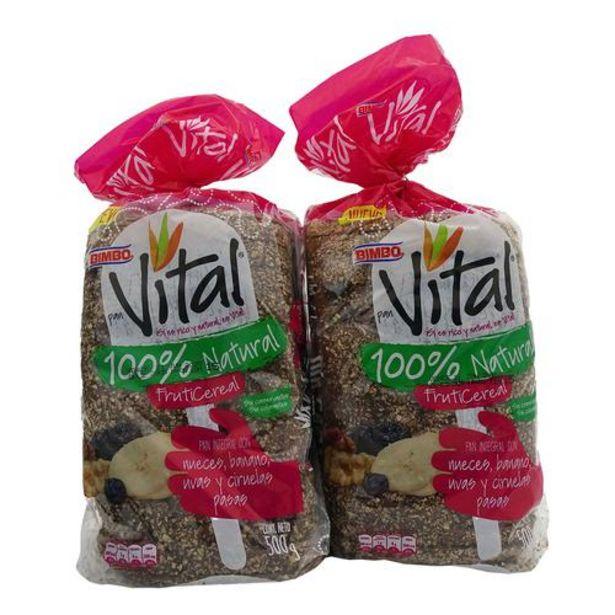 Oferta de Bimbo Pan Fruticereal Vital 2 Paquetes de 500 gr por $11900