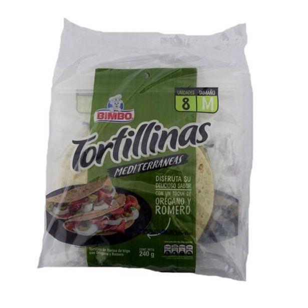 Oferta de Bimbo Tortilla Mediterránea Tortillinas 2 Unidades/240 g por $8900