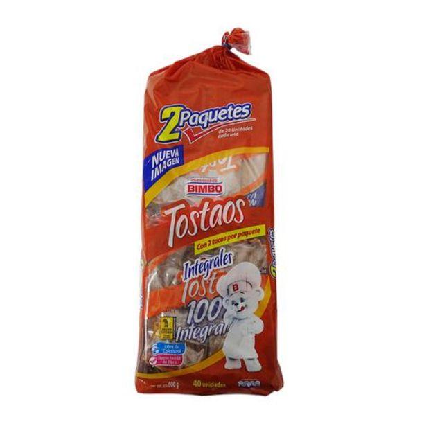 Oferta de Bimbo Tostadas Integrales Tostaos 2 Paquetes de 300 g por $9500