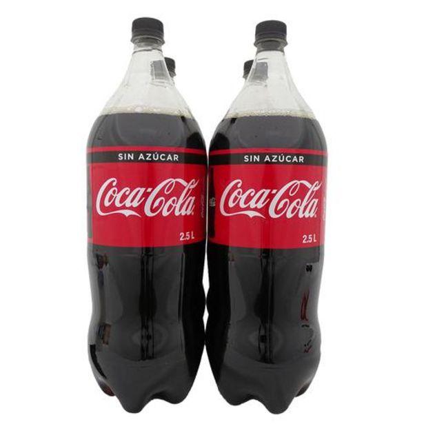 Oferta de Coca Cola Gaseosa Zero 4 unidades / 2,5 L por $17900