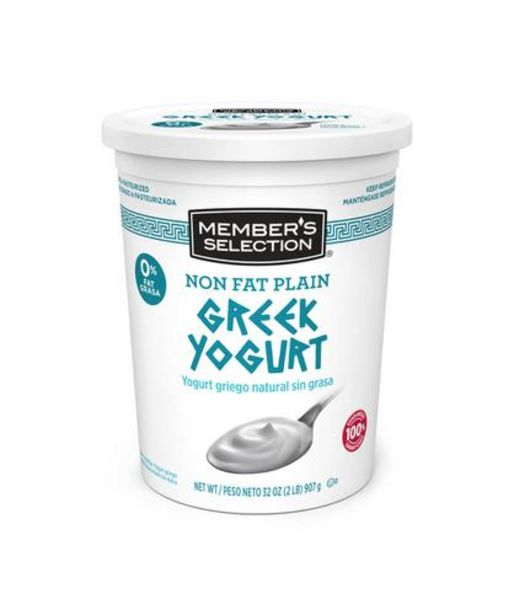 Oferta de Member's Selection Yogurt Griego Natural Sin Grasa 907 g / 2 lb por $18500