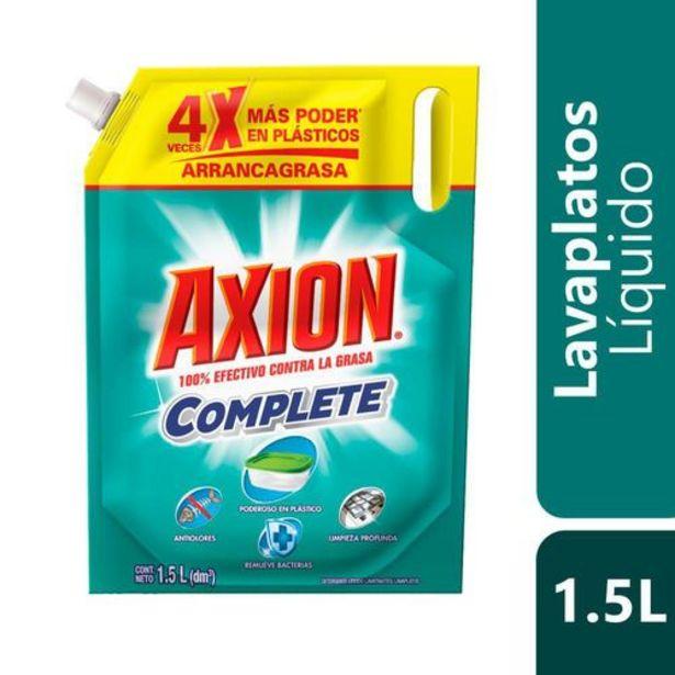Oferta de Lavaloza Axion Líquido Complete Poderoso en Plásticos 1.5L por $8377